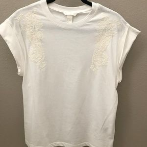 H&M Cotton Top w/Embroidery